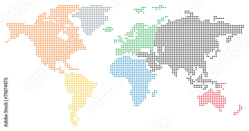 Dotted World Map - 71674475