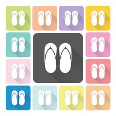 Sandals Icon color set vector illustration.