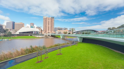 Timelapse video of riverbank precinct in Adelaide