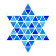 Vector Star of David Star mosaic icon