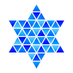 Vector Star of David Star mosaic icon