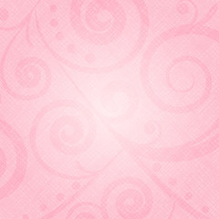 Vector pink texture with floral pattern