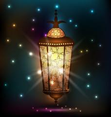 Ramadan background with arabic lantern