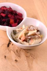 Russian beetroot salad vinaigrette