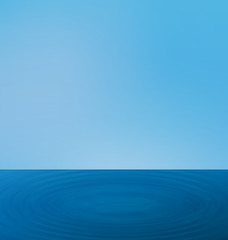 Wallpapers ripple sea landscape with the horizon and blue sky