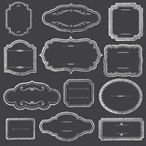 Chalkboard Frames and Ornaments - 71675461