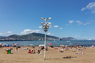 Hauts parleurs de plage