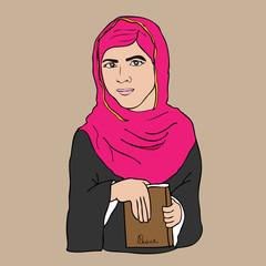 Islam girl and book