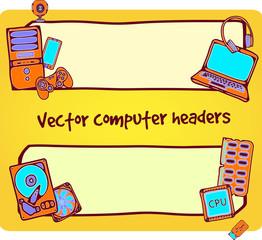 illustration of computer headers