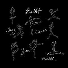 Ballet dance doodle drawing