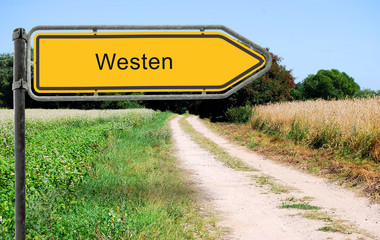 Strassenschild 21 - Westen