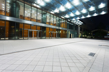 modern office building entrance exterior