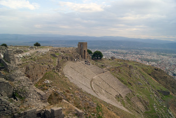 Ancient theatre on the slope, Pergam