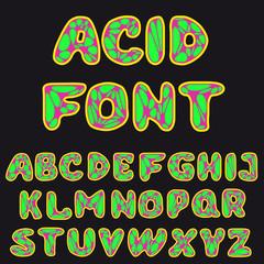 psychodelic alphabet for design