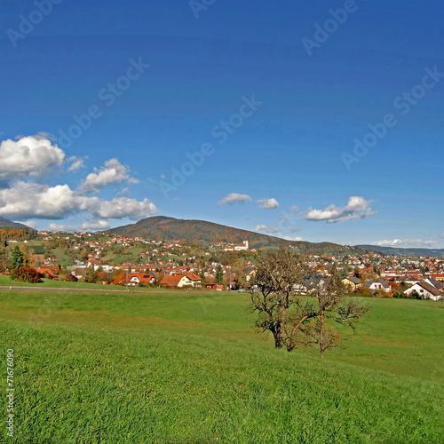 canvas print picture WEIZ ( Oststeiermark ) - Stadtpanorama