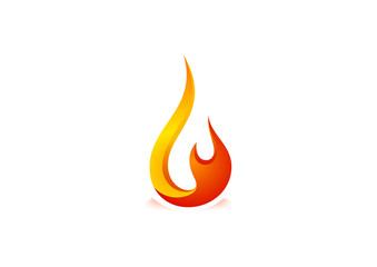 Fire flame Logo design vector