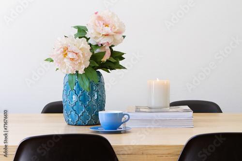 Fototapeta Contemporary interior dining table horizontal