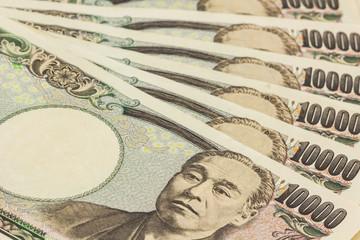 Japanese Yen banknotes.