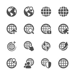 global communication icon set, vector eps10