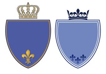 Traditionelle Wappen mit Krone