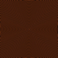 Black and orange spiral