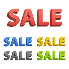 Sale text in 3d
