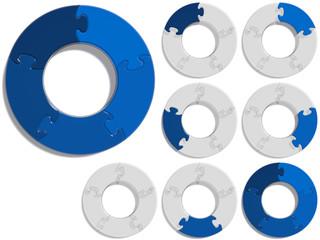 Circle Puzzle 05 - Blue