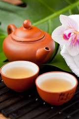 Spa concept with green tea