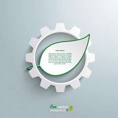 Big Gear Green Leave Infographic