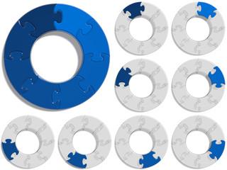 Circle Puzzle 08 - Blue