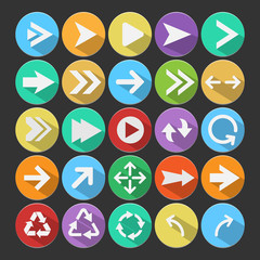 Arrow flat icons,vector