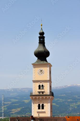 canvas print picture Kirche - Turm