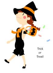 ハロウィン 魔女とお菓子