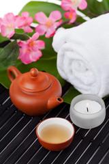 Spa concept with green tea
