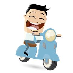 motorroller fahren lustig