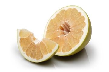 Sliced and Half Pomelo fruit