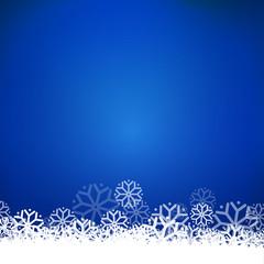 Blue vector snow bottom frame