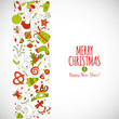 Vertical geometric shape vector with christmass drawing elements