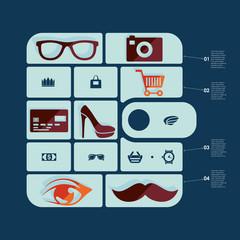 fashion flat infographic