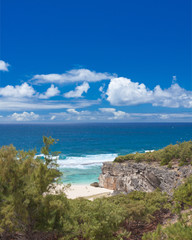 crique et plage de Trou d'Argent, île Rodrigues