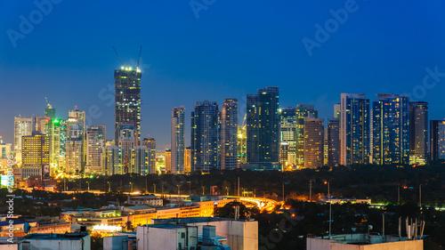 skyline of manila city, philippines