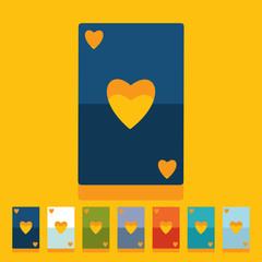 Flat design: playing card