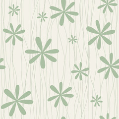 Retro floral background with camomiles