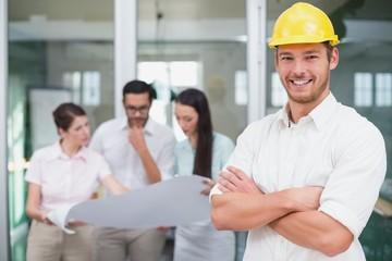 Casual architect smiling at camera