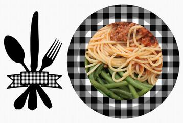spaghetti Sauce bolognaise - Haricots verts
