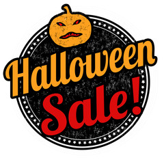 Halloween sale stamp
