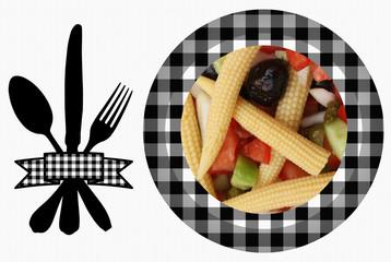 Mini épis de Maïs en Salade