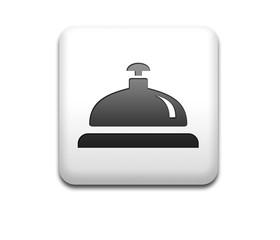 Boton cuadrado blanco 3D timbre de hotel