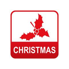 Etiqueta app abajo CHRISTMAS con muerdago