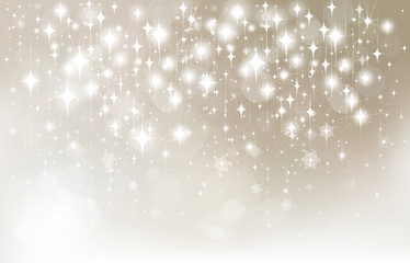 Vector stars  bokeh background.